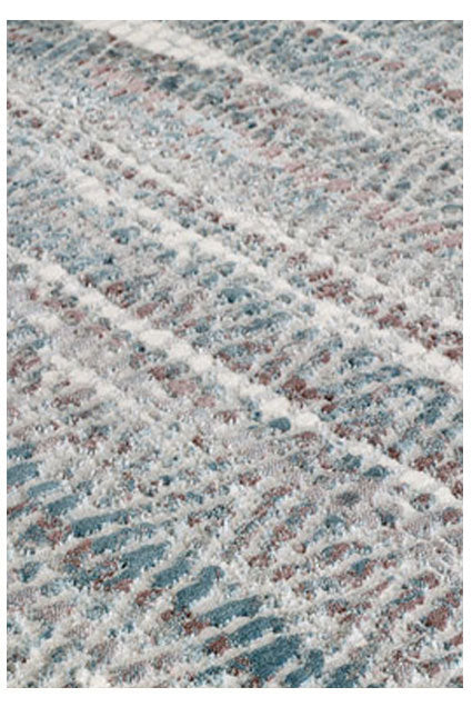 Zigzag Blue Area Rug