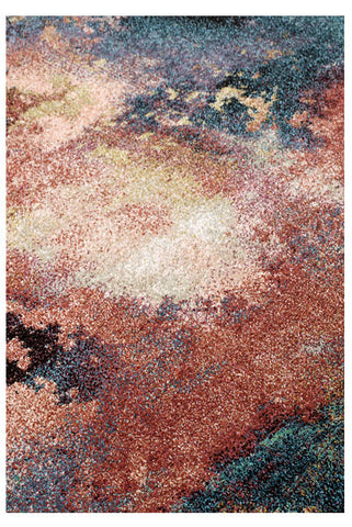 Image of Fleur Pink / Turquoise Floral Area Rug