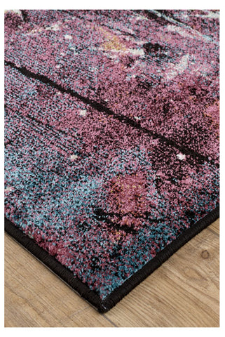Image of Fleur Purple / Ochre Floral Area Rug