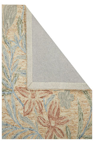 Image of Garden Leaf Beige/Red Area Rug