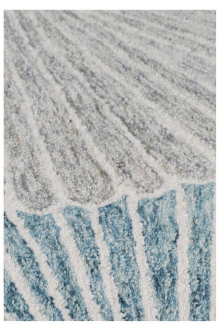 Garden Seashell Blue/Red/Grey Area Rug