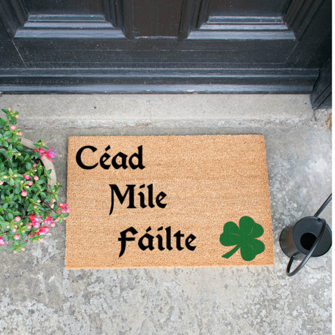 Image of Cead Mile Failte Green Doormat