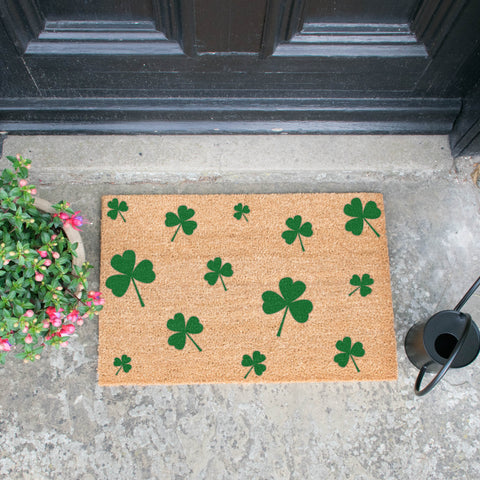 Shamrocks Green Doormat