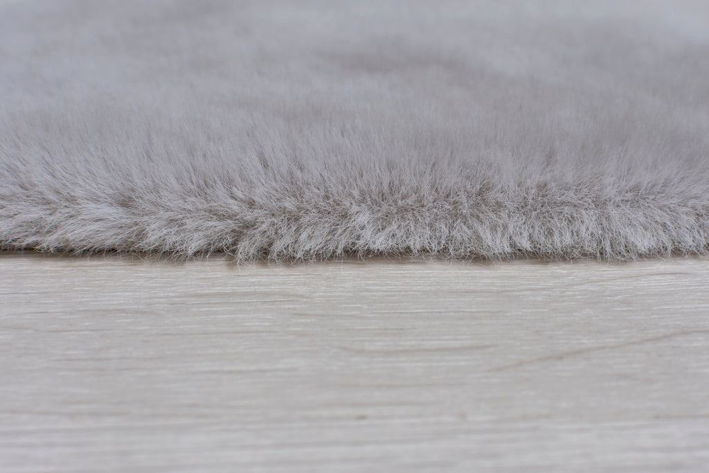 Star Shaggy Grey Area Rug