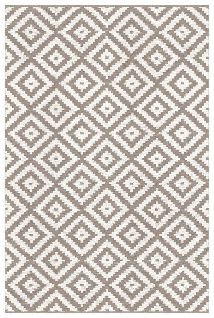 Ava Dove Grey Indoor/ Outdoor Reversible Polyester Recycled Fibre Rug RUGSANDROOMS