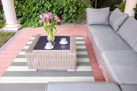 Highway Light Grey Indoor/ Outdoor Reversible Polyester Recycled Fibre Rug RUGSANDROOMS