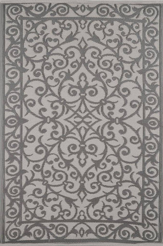 Image of Gala Taupe Grey & Buttercream Indoor-Outdoor Reversible Rug cvsonia