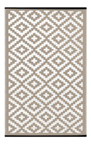 Image of Nirvana Taupe & White Indoor-Outdoor Reversible Rug cvsonia