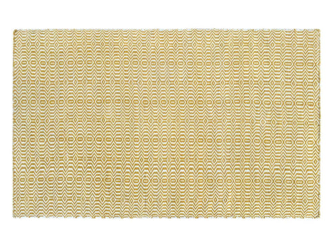 Image of Viva Yellow Indoor/ Outdoor Reversible Polyester Recycled Fibre Rug RUGSANDROOMS