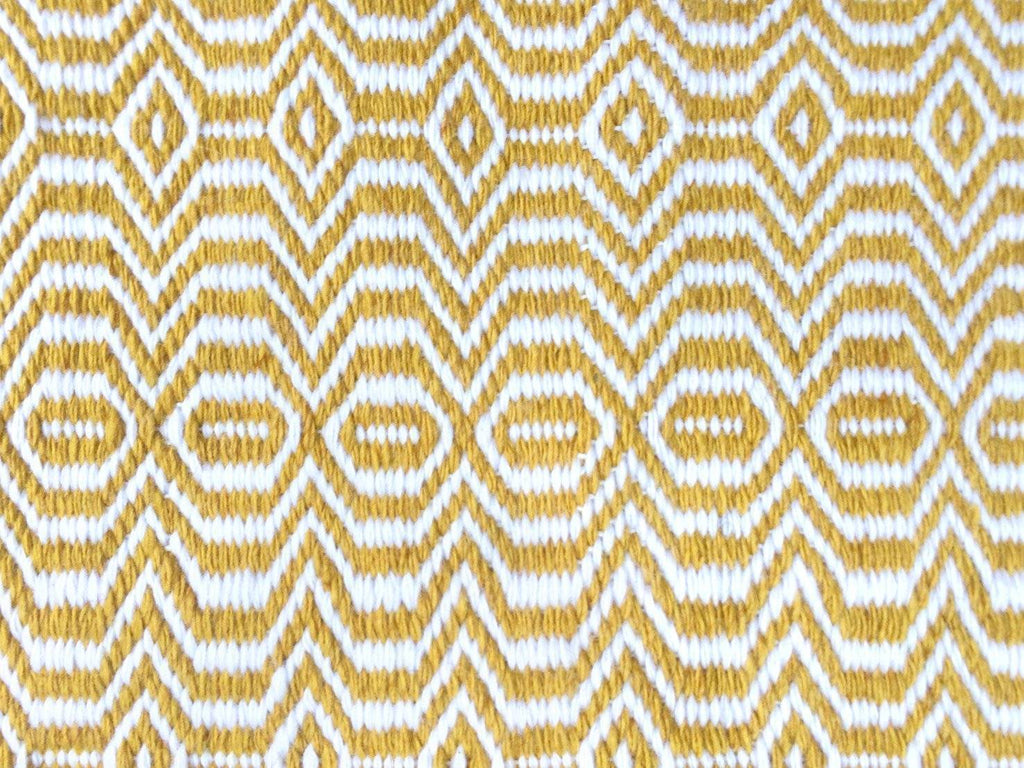 Viva Yellow Indoor/ Outdoor Reversible Polyester Recycled Fibre Rug RUGSANDROOMS