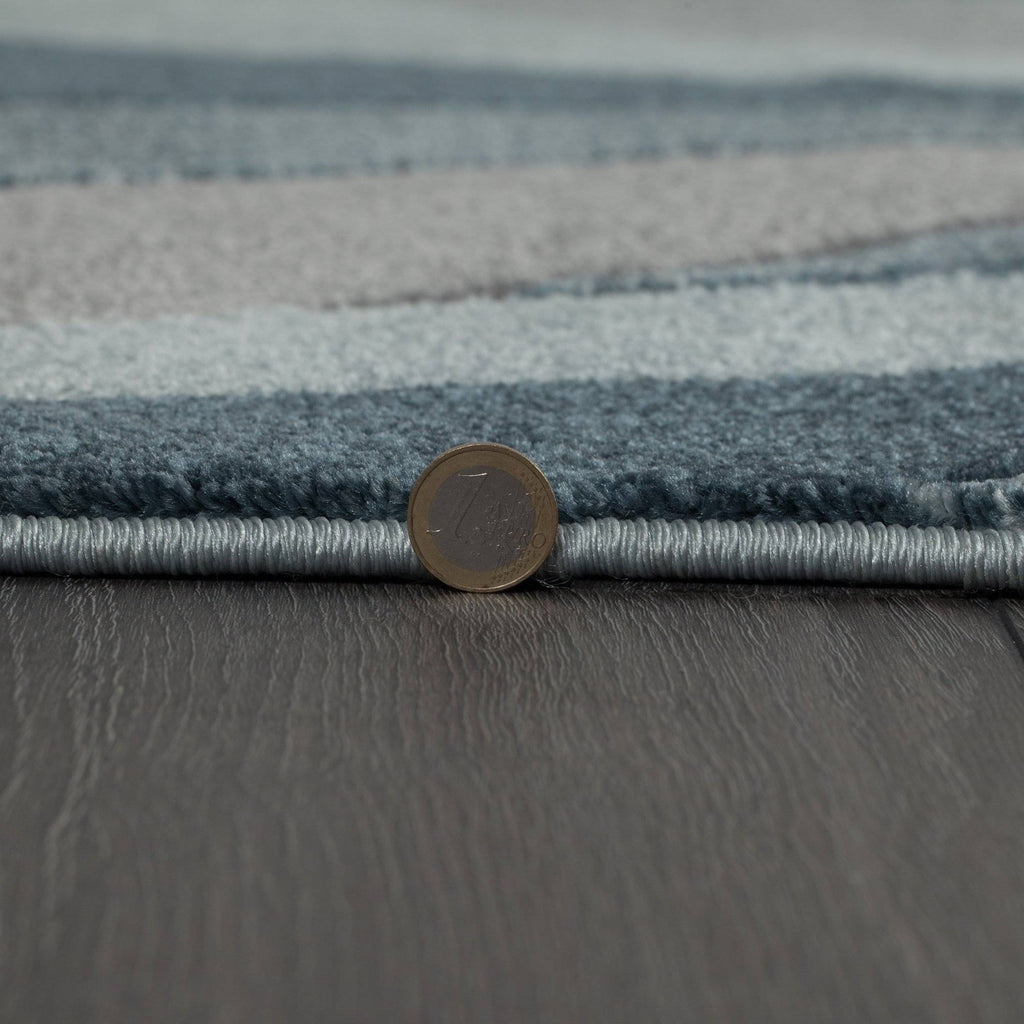 Shatter Denim Blue Area Rug RUGSANDROOMS