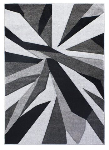 Image of Shatter Black/Grey Area Rug RUGSANDROOMS
