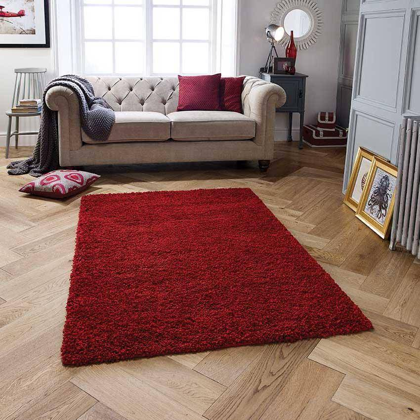 Harmony Ruby Red Area Rug RUGSANDROOMS