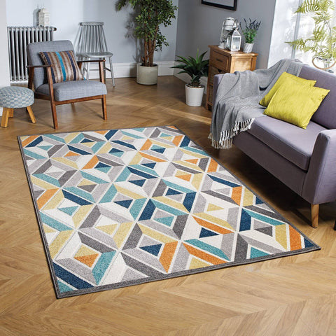 Hana Multi-Coloured Area Rug RUGSANDROOMS