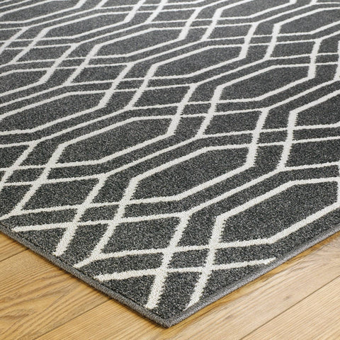 Image of Hana Grey Area Rug RUGSANDROOMS