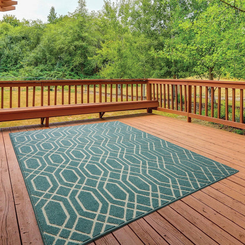Image of Hana Turquoise Area Rug RUGSANDROOMS