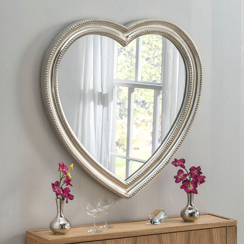 Gracie Silver Heart Mirror