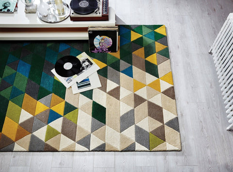Mona Green/Multi Area Rug RUGSANDROOMS