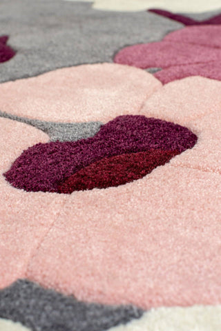 Image of Karina Charcoal/Pink Area Rug RUGSANDROOMS