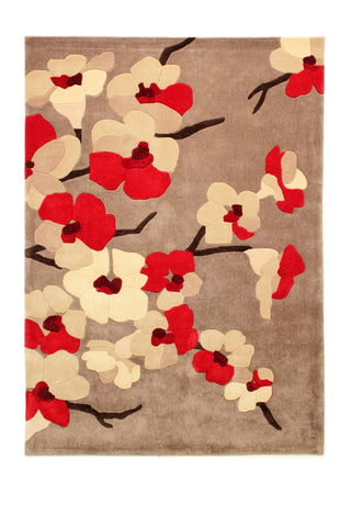 Image of Karina Red Area Rug RUGSANDROOMS