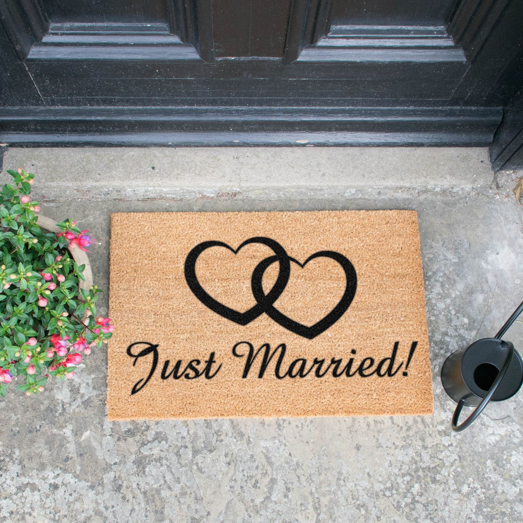 Just Married doormat RUGSANDROOMS