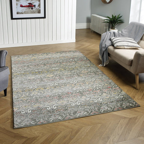 Geneva Cream/Gold/ Blue Area Rug RUGSANDROOMS