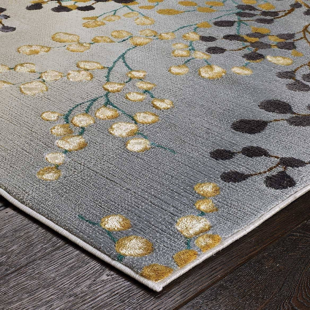 Jas Grey/Gold/Purple Area Rug RUGSANDROOMS