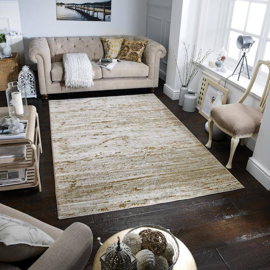 Geneva Cream/Gold Area Rug RUGSANDROOMS
