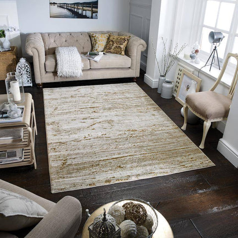 Image of Geneva Cream/Gold Area Rug RUGSANDROOMS