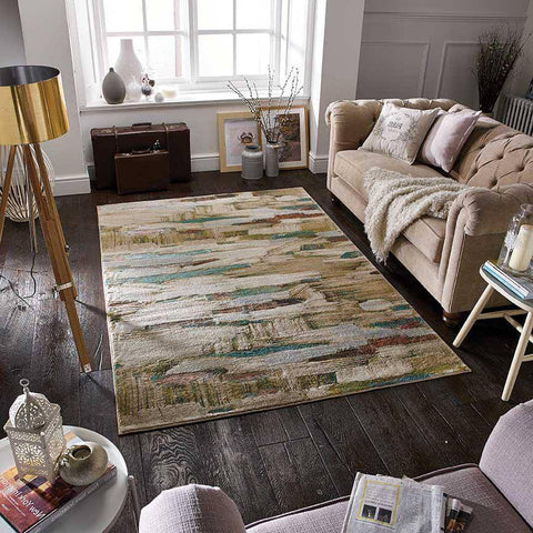Geneva Grey/Gold/Purple Area Rug RUGSANDROOMS