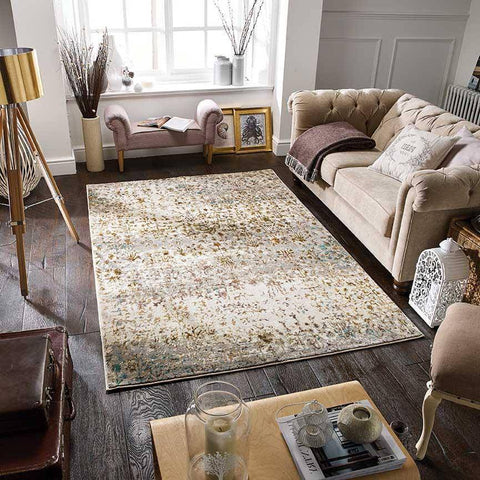 Geneva Cream/Multi Area Rug RUGSANDROOMS