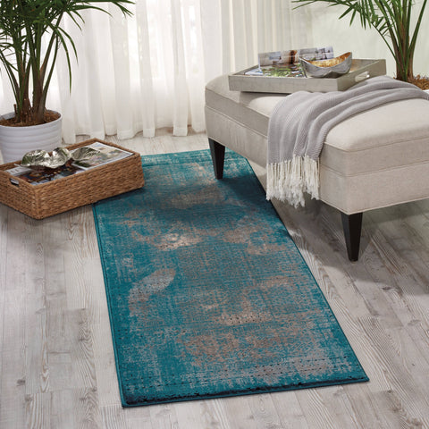 Image of Karma Blue Area Rug RUGSANDROOMS