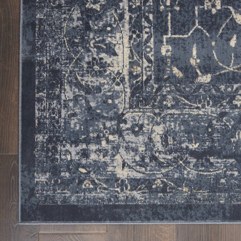 Image of Kathy Ireland Malta Navy 11 Area Rug RUGSANDROOMS