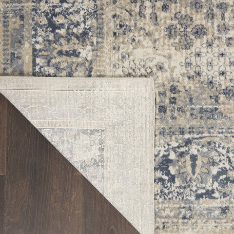 Image of Kathy Ireland Malta Ivory/Blue 12 Area Rug RUGSANDROOMS