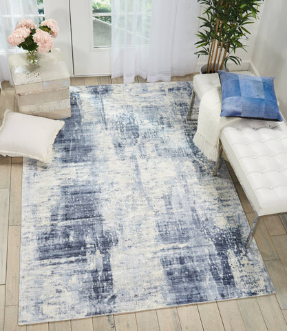 Kathy Ireland Safari Dreams Blue Area Rug RUGSANDROOMS