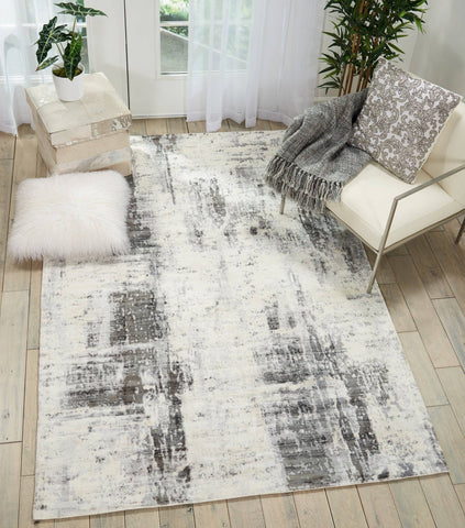 Image of Kathy Ireland Safari Dreams Ivory/Grey Area Rug RUGSANDROOMS