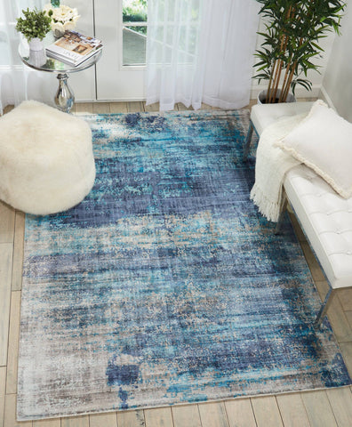 Kathy Ireland Safari Dreams Teal Area Rug RUGSANDROOMS