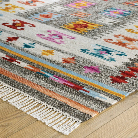 Image of Nate Multi-Coloured Area Rug RUGSANDROOMS