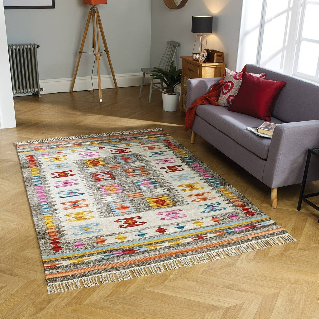 Nate Multi-Coloured Area Rug RUGSANDROOMS