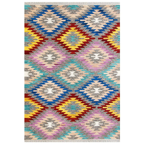 Image of Talca Multi-Coloured Area Rug RUGSANDROOMS