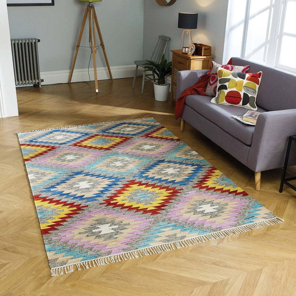 Talca Multi-Coloured Area Rug RUGSANDROOMS