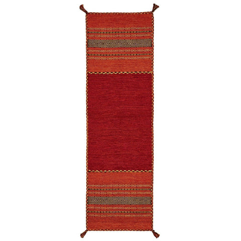 Image of Kelim Red Area Rug RUGSANDROOMS
