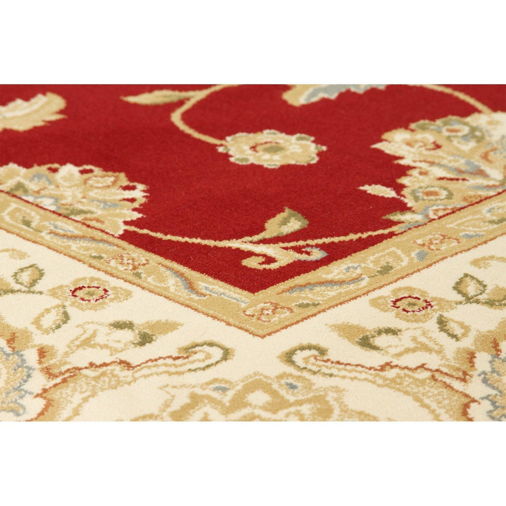 Kendra Red/Cream Area Rug RUGSANDROOMS