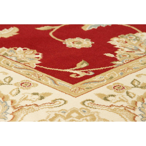 Image of Kendra Red/Cream Area Rug RUGSANDROOMS