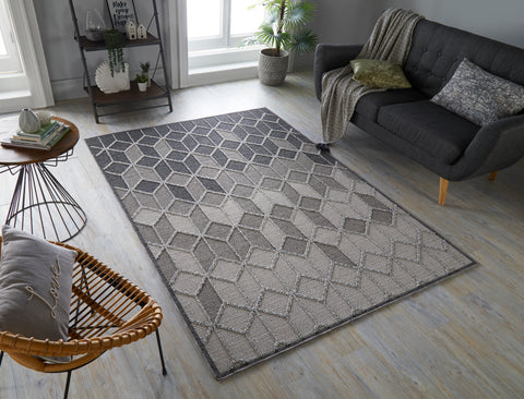 Avery Grey / Cream Area Rug