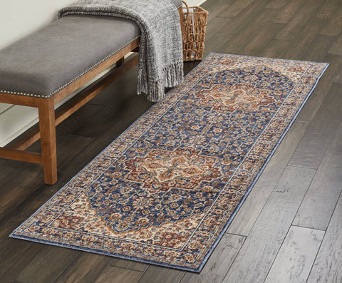 Image of Lagos Blue Area Rug RUGSANDROOMS