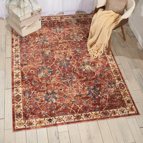 Image of Lagos Brick Area Rug RUGSANDROOMS