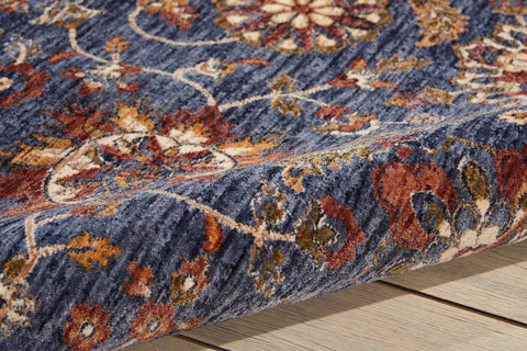 Image of Nourison Blue Area Rug RUGSANDROOMS