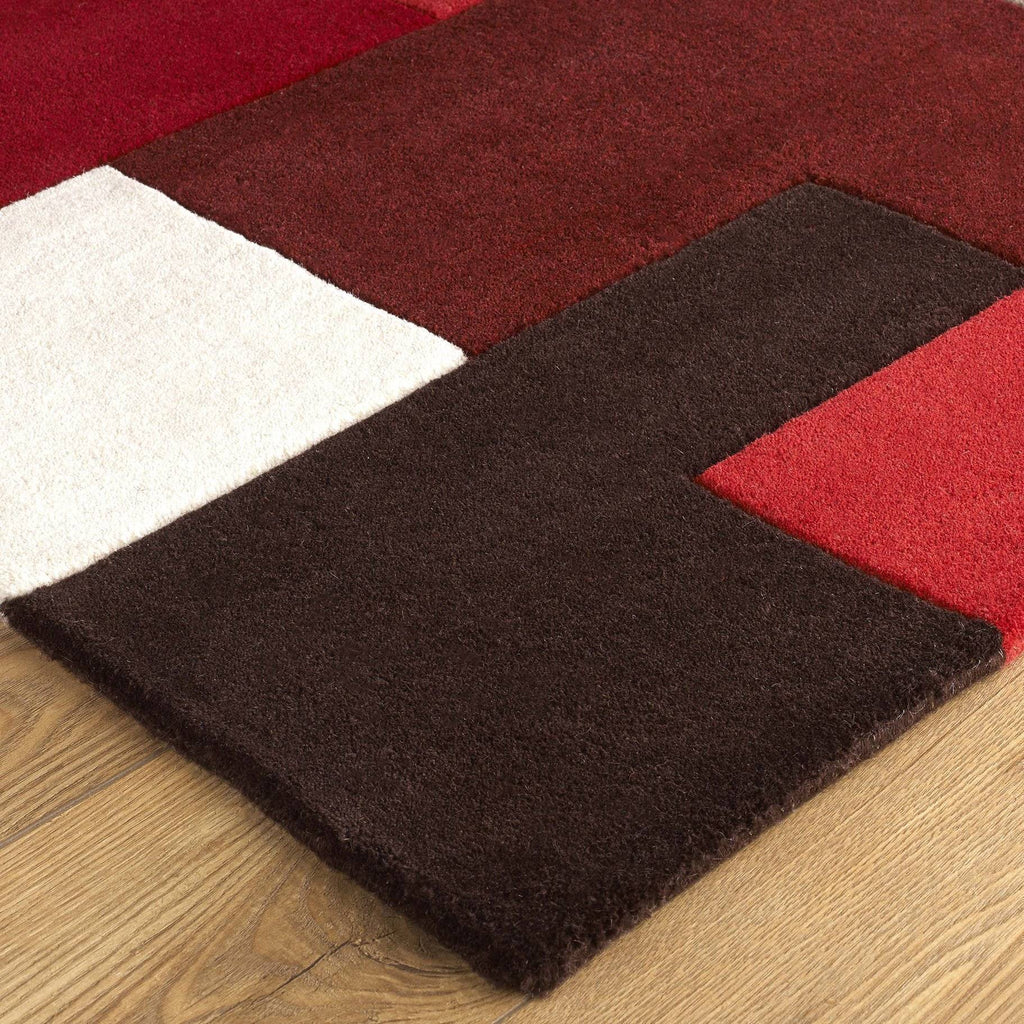 Lex Red Area Rug RUGSANDROOMS
