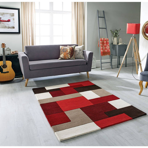 Image of Lex Red Area Rug RUGSANDROOMS